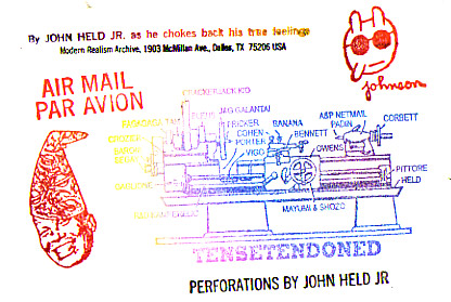 John Held Jr. envelope, circa 1995 (photo by Jim Leftwich, via flickr)