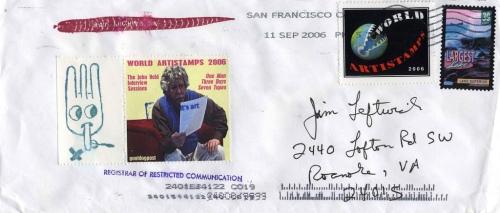 John Held Jr. mail art, circa 2006 (photo by Jim Leftwich, via flickr)