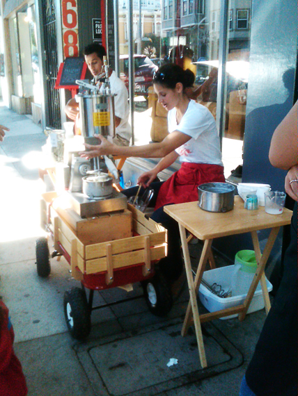 taking the food cart to a whole new level...