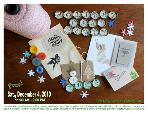 holiday cardmaking at the Sunnyside Conservatory...