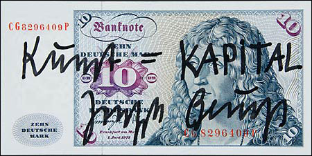 faux banknote, Joseph Beuys-style...