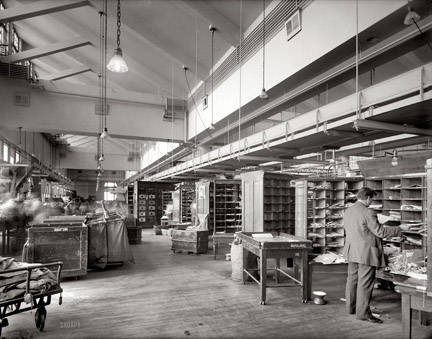 City Post Office 1923, Washington D.C. (imagine if you worked here!)