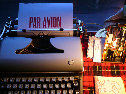 """par avion"", and some mail art from Marie W. ..."