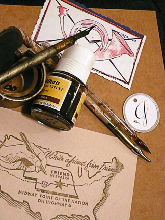 postcard? check. ink? check. how about the postal horn?...