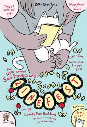 SF Zinefest 2011 poster, designed by Lark Pien!