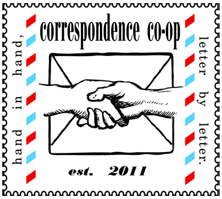 the correspondence co-op logo...