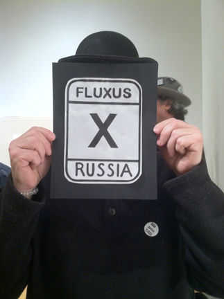 Picasso Gaglione salutes Russian fluxists...