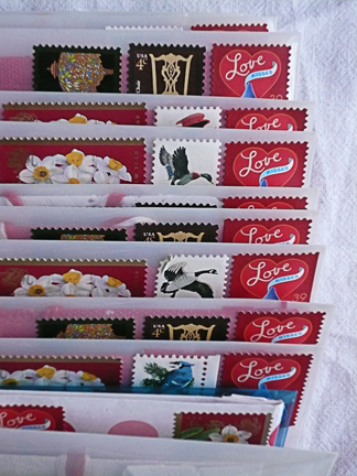 i miss those hershey's kiss postage stamps...