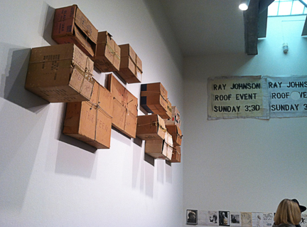 the 13 boxes, mounted on the wall of the BAM...