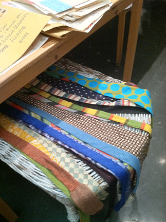 yes -- yes they did: neckties mailed to Robert Warner via Ray Johnson.