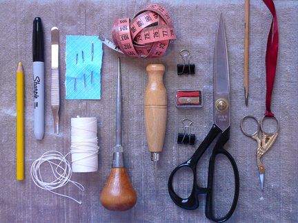 which of these items are used for sewing? for bookbinding?
