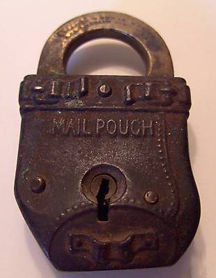 mail pouch padlock, front