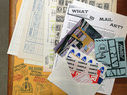 "if you've signed up for ""Mail Art 101"", this is part of your treat packet!"