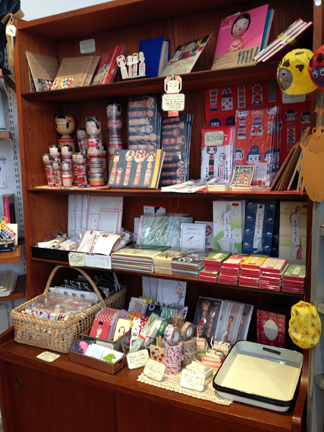 kokeshi-themed stationery and accessories...