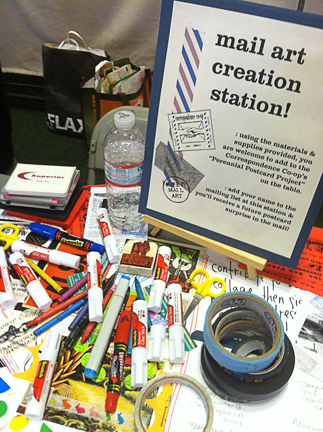 "it's the mail art ""creation station""!..."