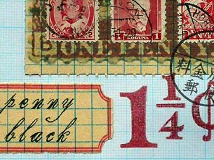 "a ""penny black"" print..."