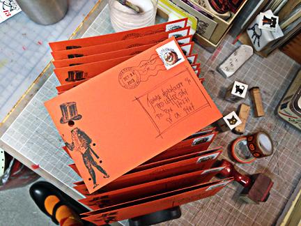 look at that fabulous orange paper!