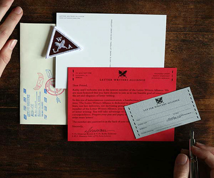 shown above: LWA membership kit