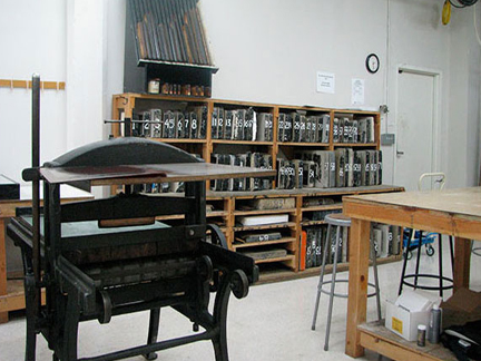 printmaking studio at the academy of art...