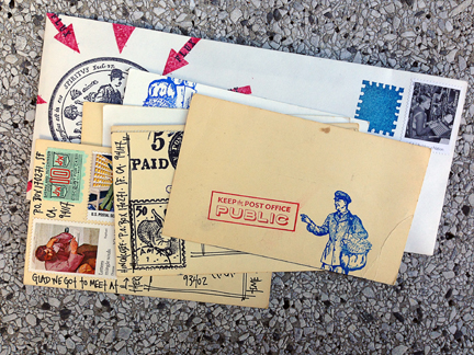 a little bit of outgoing mail...