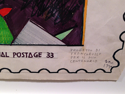 "title: ""int'l postage 33"" (close up)"